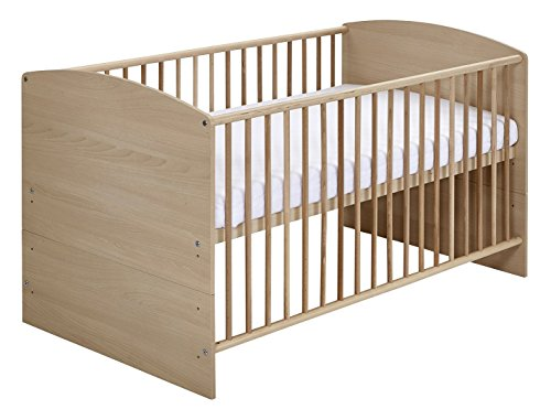 Schardt 04 492 04 01 Kombi Kinderbett inklusiv Umbaukit, 70 x 140 cm, Classic Buche