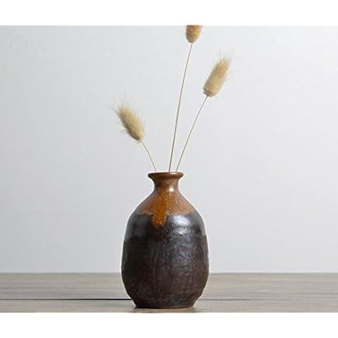 Vaso Decorativo Regali artigianato moderno ceramica casa decorazioni 10,5x 6,5cm C