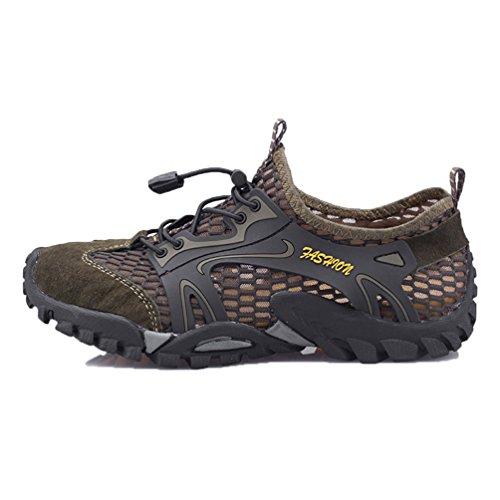 Flarut sandali sneakers sportivi estivi uomo trekking scarpe da spiaggia all'aperto pescatore piscina acqua mare escursionismo leggero(verde,43)