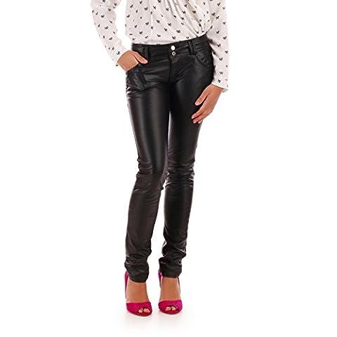 La Modeuse - Pantalon aspect cuir