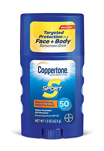Coppertone SPORT Sunscreen Stick Broad Spectrum SPF 50, 1.5-Ounce