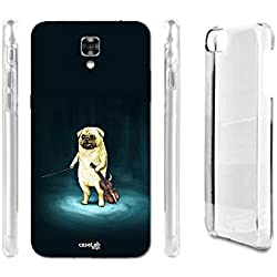FUNDA CARCASA MUSIC PUG PARA LG X SCREEN K500N