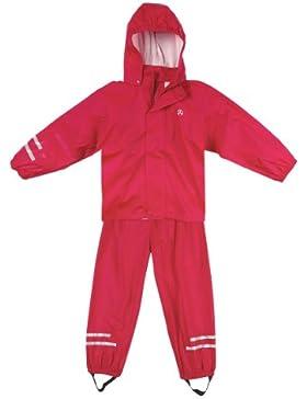 Elka Regenanzug Regenhose + Regenjacke für Kinder, wasser- und winddicht, gestreift oder einfärbig, vielen Farben...