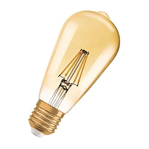 Osram LED Vintage Edition 1906 Lampe, in Edison Form mit E27-Sockel, nicht dimmbar,  2.5Watt, Klar, Warmweiß - 2500 Kelvin, 1er-Pack