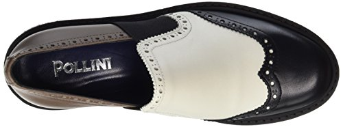 Pollini Shoes SA1027, Scarpe basse Donna Multicolore (Avory + beige + black 11A)