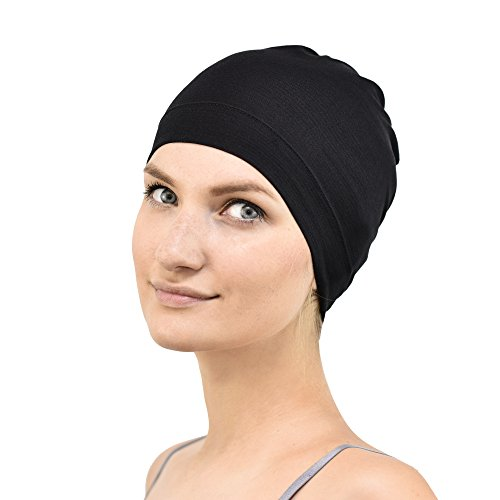 Jasmine Silk Bamboo Sleep Cap - Suitable for Chemo & Hair Loss - Cardani Chemo Cancer Hat Test