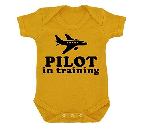 pilot-in-training-design-baby-body-sonnenblume-gelb-mit-schwarz-print-gr-68-gelb-gelb