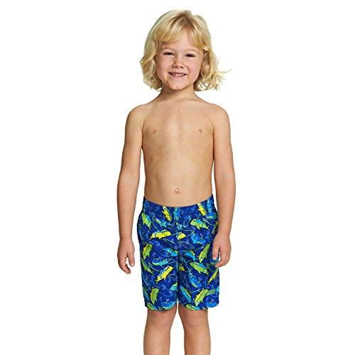 Jungen Gefüttert Swim Trunk (Zoggs Hai-Badeshorts für Knaben 5 Jahre Blue/Multi-Colour)