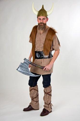 Wikinger Kostüm Für Krieger Erwachsene - Karneval Herren Kostüm Wikinger Ragnar als Krieger verkleiden Gr.L