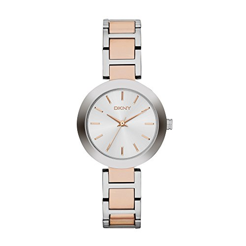DKNY Damen Analog Quarz Smart Watch Armbanduhr mit Edelstahl Armband NY2402