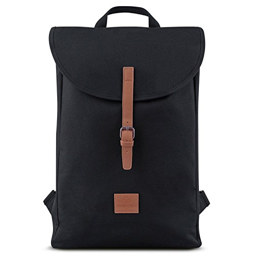 Zaino uomo e donna nero/marrone - johnny urban liam da pet riciclato - zainetto durevole di alta qualità - borsa da 13 litri per uso quotidiano e università - idrorepellente con tasca per laptop