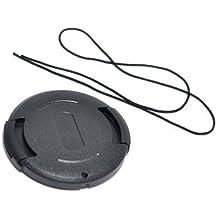 JJC–Tapa de objetivo de 40,5mm Fijación a presión/Clip On Protección Cover con Keeper para DSLR Cámara–Negro