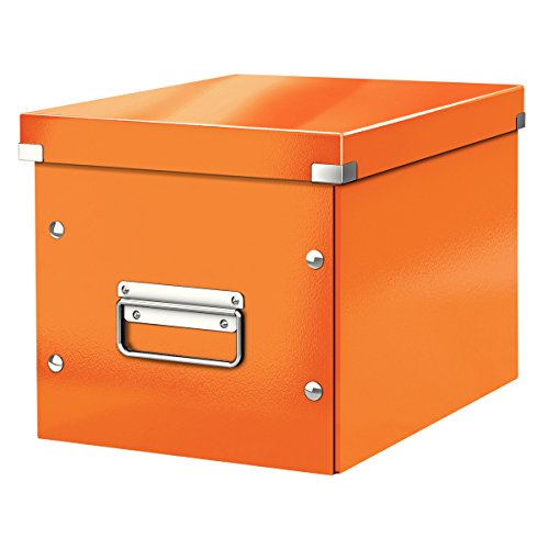 Leitz mittelgroße Aufbewahrungs- und Transportbox, Würfelform, Click & Store, Orange, 61090044 24 Foto Cube