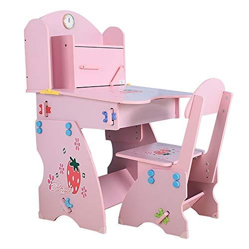 Seggioloni Scrittorio della casa con Bookshelf Ragazzo E Ragazza Writing Table Desk ascensore e Presidenza Presidenza tabella riporta scrivanie degli studenti e sedie tavolo for bambini e sedia Per il