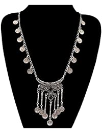 Shining Diva Fashion Jewellery Oxidised Silver Modern Western Party Wear Necklace For Women Stylish Necklace For...