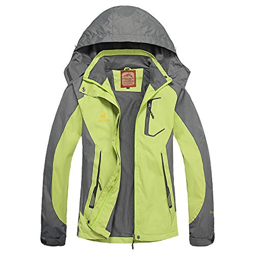 Diamond Candy Women's Waterproof/Windproof/Breathable Multi Functional Soft Shell Jacket -  Green - Small