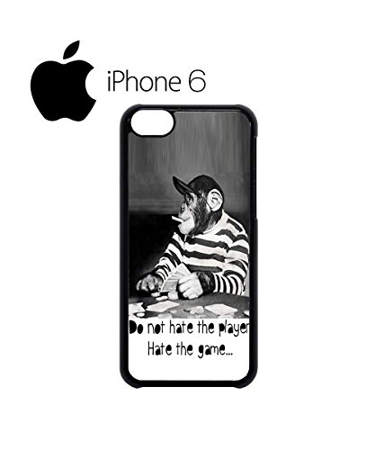 Monkey Playing Card Game Swag Mobile Phone Case Back Cover Hülle Weiß Schwarz for iPhone 6 White Weiß