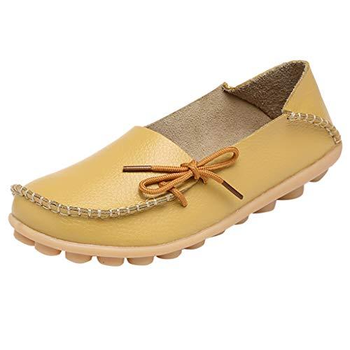Mutter lässig weiche Schuhe Krankenschwester Krawatte Flache Schuhe Damen lässige Fahrschuhe Lightweight Boot Top