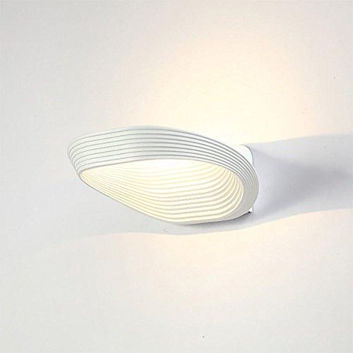 Newsbenessere.com 41FZIQbLulL Glighone Applique da Parete Interni per Decorazione a LED Illuminazione Interna da Muro Lampada da Parete di Alluminio per Camera da Letto Soggiorno Bagno, Luce Bianco Caldo