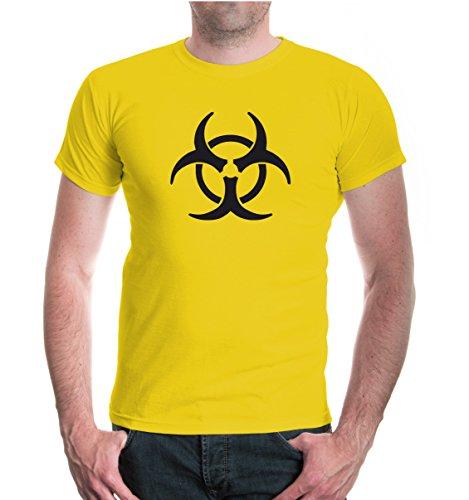 buXsbaum® T-Shirt Biohazard Yellow-Black
