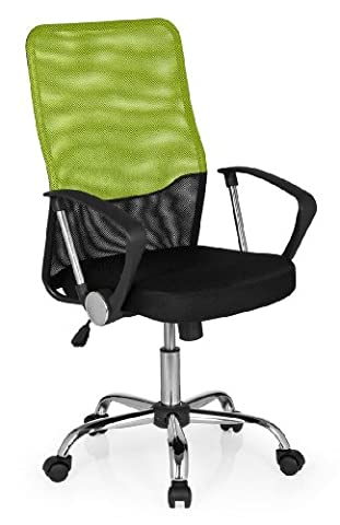 hjh OFFICE FOLEY NET Black/Green/Chrome Mesh Office/Executive Chair