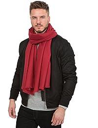 Twill Weave Merino Oversize Scarf Red