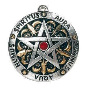 Pendentif pentacle magique - Pentacle Heraldique