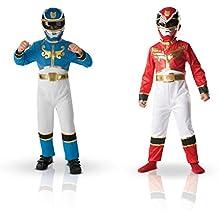 Power Rangers - 154656l - Traje - Dual Pack - talla L - rojo y azul