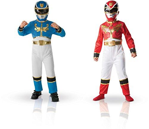 Imagen de power rangers 154656m  disfraces para niños a partir de 5 años, color rojo y azul 2 unidades , talla m