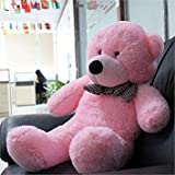 #10: Click4Deal Hugable Soft 4 Feet Long Huge Pink Teddy Bear - 122Cm