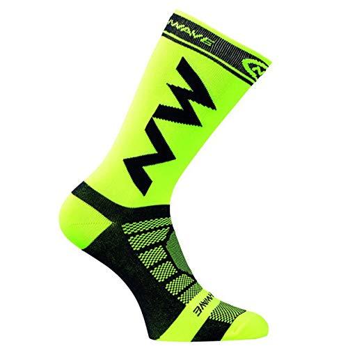 Camellia Atmungsaktive Erwachsene Männer Kompression Lange Socken Warme Fußballsocken Basketball Sport rutschfeste Radfahren Klettern Laufsocken (grün) (Radfahren Kompression Socken)