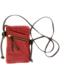 4b88a825b0 MONAHAY Small Italian Leather Cross Body Mobile Phone and Passport Travel Pouch  Bag MH9723
