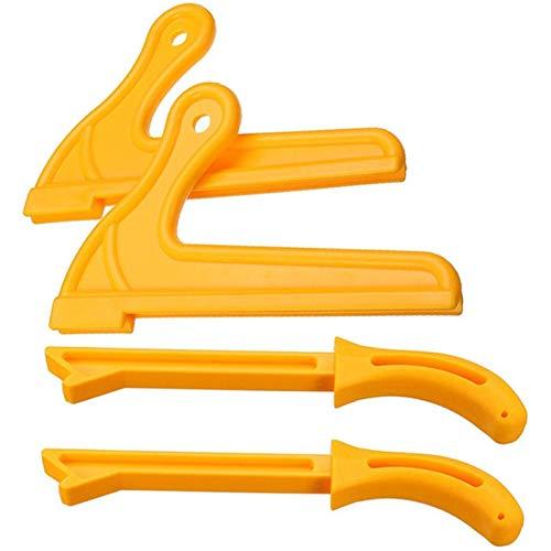 Binchil 4 Piezas T1 T2 Proteccion De Mano Juego De Varilla De Empuje De Sierra Para Madera De Aserrin Para Carpinteria Mesa Carpinteria Ht2381