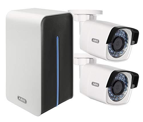 ABUS IP-Kamera Surveillance Set 4-Kanal WLAN Rekorder, 2X WLAN-Außenkamera, 1TB HDD, 3X Netzteil und Zubehör Mehrfarbig