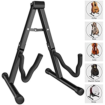 Martin Smith Ags-02 Portable Folding Guitar Stand For Classical Acoustic And El