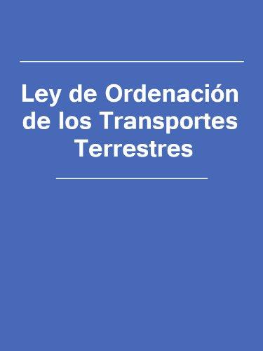 Ley de Ordenacion de los Transportes Terrestres (Spain) por España