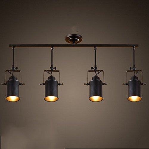 Schienen-beleuchtung (Industrielle Kronleuchter Moderne einfache Retro amerikanischen Kreative Living Room Bar Clothing Store Persönlichkeit LED-Deckenleuchte Schienen-Beleuchtung Vintage kronleuchter (Farbe : # 4))