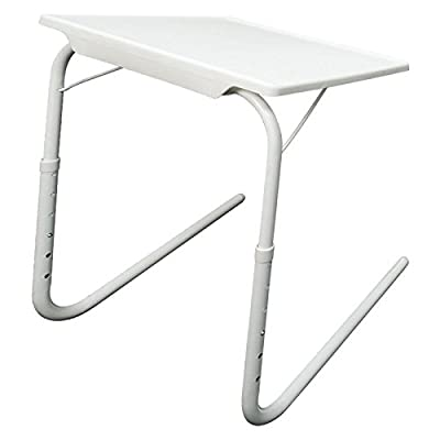 CRAVOG Foldable Adjustable TV Dinner Laptop Tray Bed Mate Folding Table Portable Desk