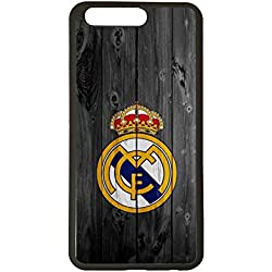 Carcasas para moviles Funda para movil de tpu compatible con huawei p10 real madrid escudo