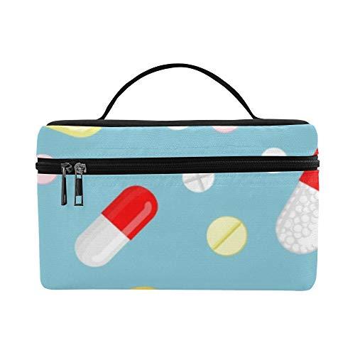 Eine große Anzahl von Oral Pills Pattern Lunch Box Tote Bag Lunch Holder Isolierte Lunch Cooler Bag für Frauen/Männer/Picknick/Bootfahren/Strand/Angeln/Schule/Arbeit -