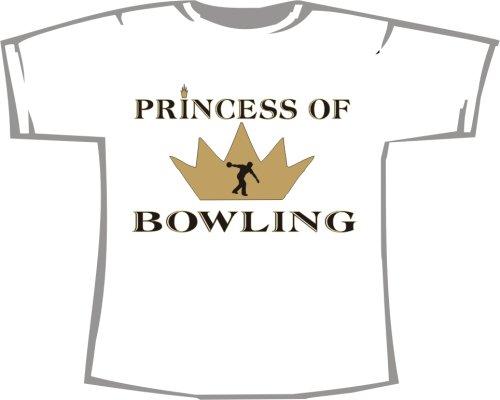 Princess of Bowling; T-Shirt weiß, 36/38; Gr. S; Damen