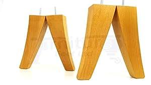 4x Sostituzione Mobili Piedini In Legno Massiccio–215mm altezza, divani, sedie, poltrone, armadi–M8(8mm) TSP500 Oak