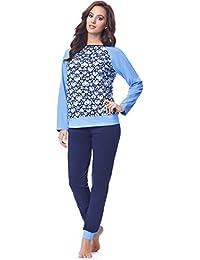 Merry Style Pijamas Ropa de Dormir Verano Pijama Pantalones y Camisetas Mujer MS10-154