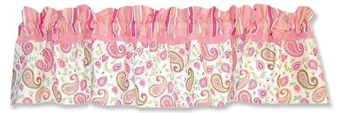 Trend Lab Pole Pocket Window Valance - Pink Gingham - 15
