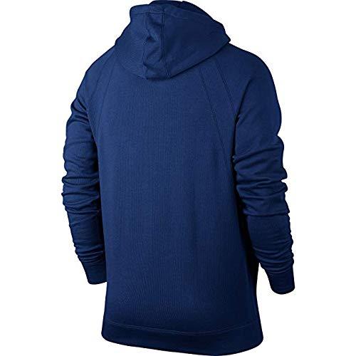 Jordan Sportswear Wings Fleece Men's Full-Zip Hoodie Blue/Black 860196-455 (Size M)
