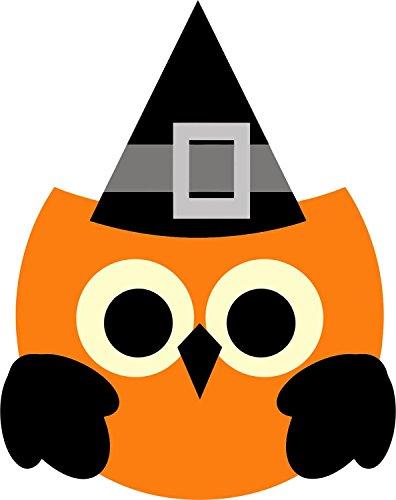 Selbstklebend Wandtattoo Fete Deco Halloween MacBook Auto Eule Hut SORCIERE