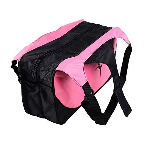 Outtybrave Wasserdichte Yogatasche Nylon Rucksack Pilates Träger Yoga Matte Tasche ohne Yogamatte rosa Rose