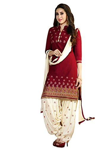 Lovender Fashion Women's Poly Cotton Printed Semi-Stitched Salwar Suit Dress Material