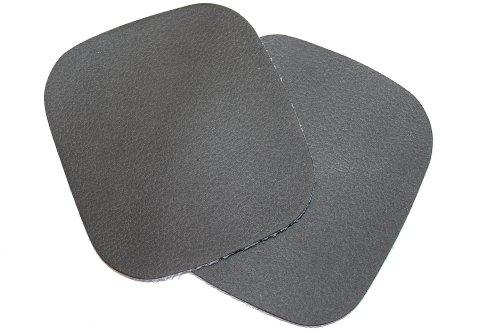 dalipo 05006 - Bügelflicken, Kunstleder, 2 Stück, ca. 10,8x9,8cm, schwarz