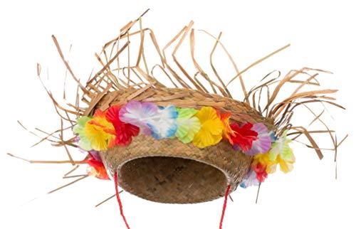 Brandsseller Original Sombrero de Paja Sombrero de Fiesta Hawaii Sombr